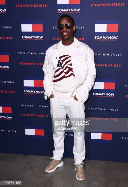 Micheal Ward attends the TommyNow show during London Fashion Week February 2020 at the Tate Modern on February 16 2020 in London England