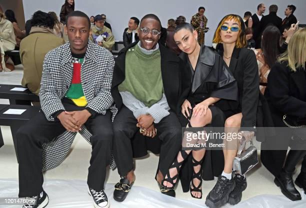 Micheal Ward, Ncuti Gatwa, Charli XCX and Rina Sawayama attend the JW Anderson show during London Fashion Week February 2020 at Yeomanry House on...