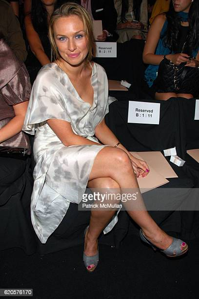 Micheala McManus attends MAX AZRIA Spring 2009 Fashion Show at The Tent on September 9 2008 in New York City