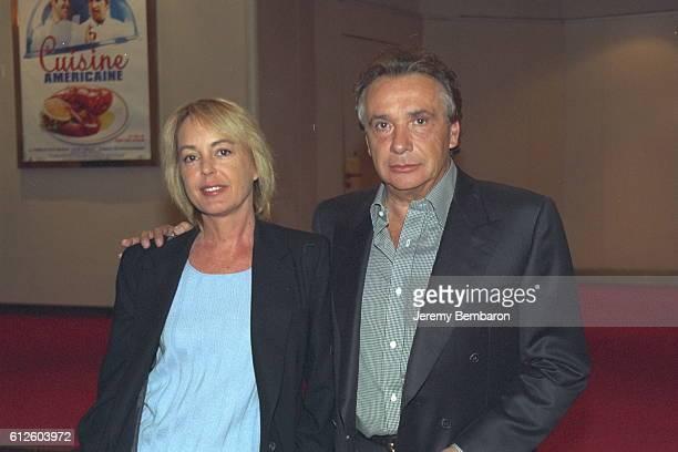 Michel and Babette Sardou at the Gaumont Marignan cinema