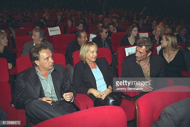 Michel and Babette Sardou Johnny Laeticia Hallyday Daniel Jennifer Hecheter at the cinema