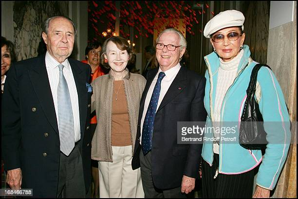 Michel and Helene David Weil Count and Countess Edouard De Ribes at Private Viewing Of The Exhibition 'Where Are We Going' In Venice