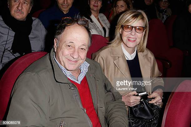 Michel Ansault and Chantal Ladesou attend 'Big Bang' Premiere Theater Play at Theatre du Gymnase on February 8 2016 in Paris France