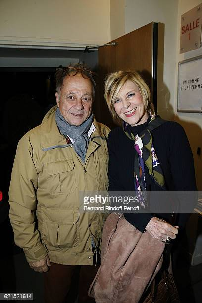 Michel Ansault and his wife Chantal Ladesou attend Un Homme et Une Femme screening for its 5Oth Anniversary at l'Arlequin on November 6 2016 in Paris...