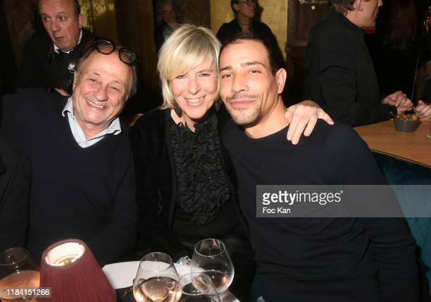 Michel Ansault Chantal Ladesou and Steevy Boulay attend Jean Marie Bigard « Ogre » Perfume Launch Party at Manko Club on October 28 2019 in Paris...