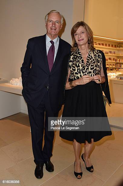 Michel Barnier and his wife Isabelle attend a Cocktail for the opening of Icones de l'Art Moderne La Collection Chtchoukineat Fondation Louis Vuitton...