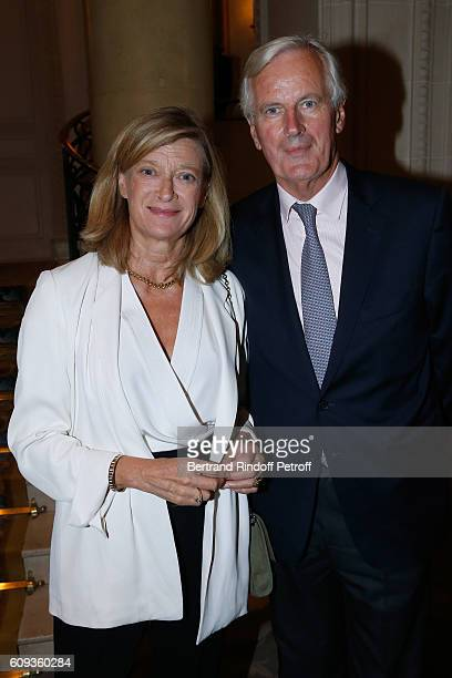 Michel Barnier and his wife Isabelle attend the Charity Dinner to Benefit 'Claude Pompidou Foundation' following the Cezanne et Moi movie Premiere...
