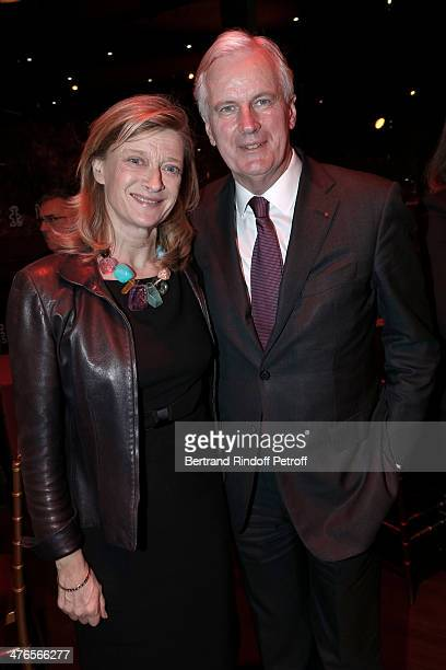 Michel Barnier and his wife Isabelle Barnier attend the Martine Aublet Foundation Award Night at the Musee Du Quai Branly on March 3 2014 in Paris...