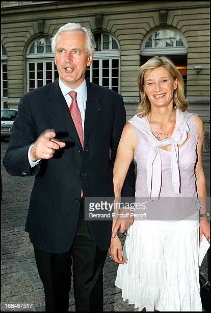 Michel Barnier and wife Isabelle at La Traviata In The Gardens Of The Senate In Paris