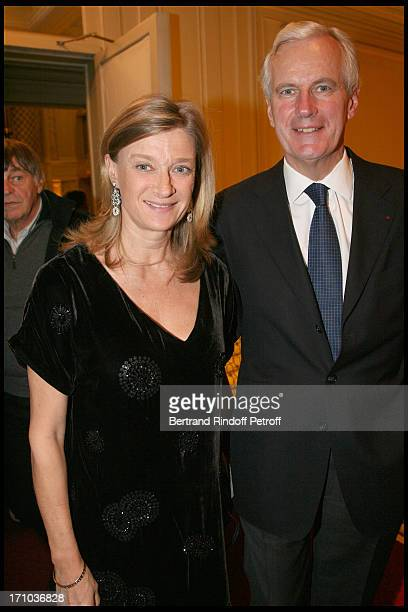 Michel Barnier and wife Isabelle at The Salle Gaveau Concert In Aid Of La Fondation Claude Pompidou