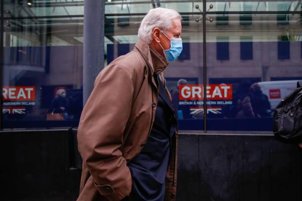GBR: EU Chief Negotiator Michel Barnier as Brexit Negotiations Hit Last-Minute Bump