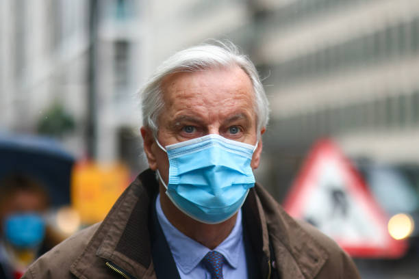 GBR: EU Chief Negotiator Michel Barnier as France Threaten Brexit Deal
