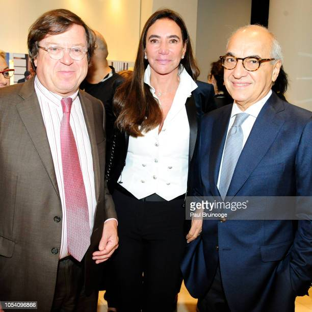 Michel Bernardaud Samira Leal and Guilherme Leal attend Launch of 'Parler Seul' collection with Mr Michel Bernardaud and Mr Joan Punyet Miró at...
