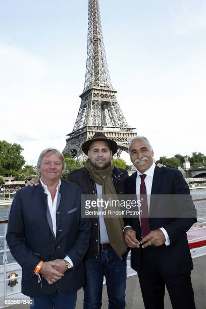 Michel Bissonnet Sam Bahrami and Mansour Bahrami attend 'Trophee des Legendes' Dinner at Le Paquebot on June 7 2017 in Paris France