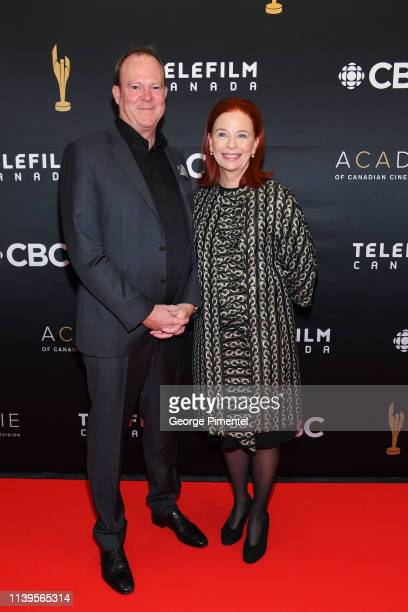 Michel Bissonnette and Catherine Tait attend the 2019 Canadian Screen Awards Broadcast Gala at Sony Centre for the Performing Arts on March 31 2019...