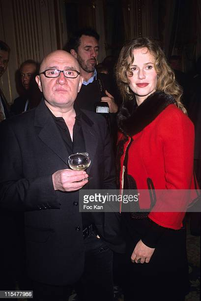 Michel Blanc and Florence Darel during Lambert Wilson and Clotilde Coureau receive the Officier and Chevalier des Arts et Lettres Medals at Ministere...