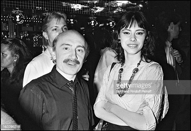 Michel Blanc and Mathilda May at a party in L'Elysee Matignon Paris 1982