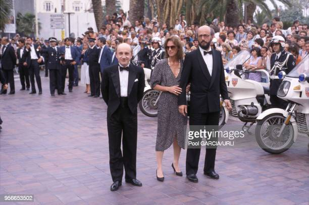 Michel Blanc et Bertrand Blier lors du Festival de Cannes en mai 1986 France
