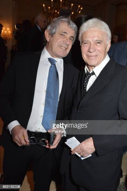 Michel Boujenah and Guy Bedos attend 'La Recherche en Physiologie' Charity Gala at Four Seasons Hotel George V on March 13 2017 in Paris France