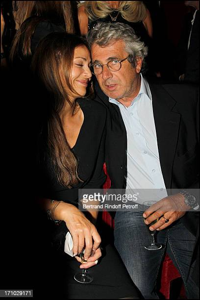 Michel Boujenah and his wife Isabelle at Full Dress rehearsal Of Crazy Horse Cabaret New Review With Clotilde Courau Princess Of Savoy