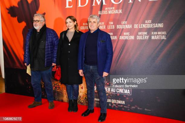 Michel Boujenah and Isabelle Boujenah during the 'Edmond' Paris Premiere photocall at Cinema Pathe Beaugrenelle on December 17 2018 in Paris France