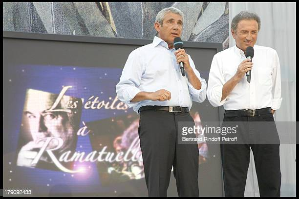 Michel Boujenah and Michel Drucker at Opening Of The 25th Anniversary Of Ramatuelle Festival Celebrations Parle Moi D'Amour
