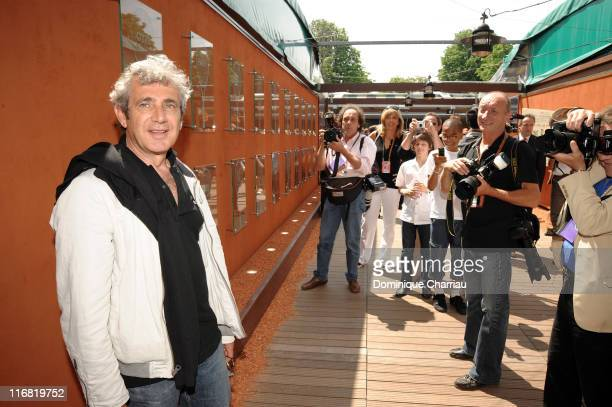 Michel Boujenah attends The French Open at Roland Garros on June 1 2008 Paris France