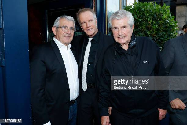 Michel Boujenah Christophe Lambert and Claude Lelouch attend the Laperouse Mask Ball on the occasion of the inauguration evening of the Laperouse...