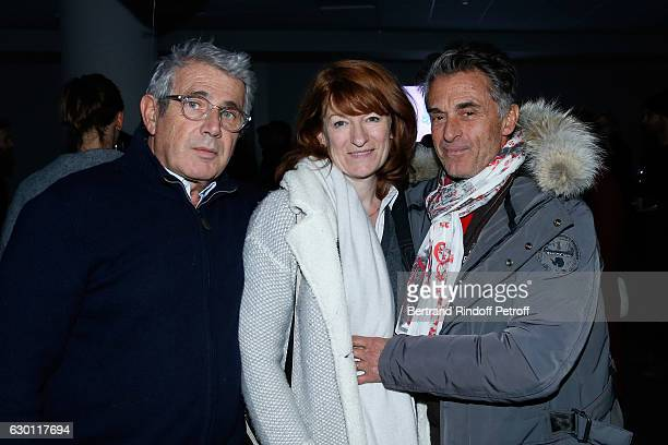 Michel Boujenah Journalist Gerard Holtz and his wife Director of the Villa Medicis in Roma Murielle Mayette attend Michael Gregorio performs for his...
