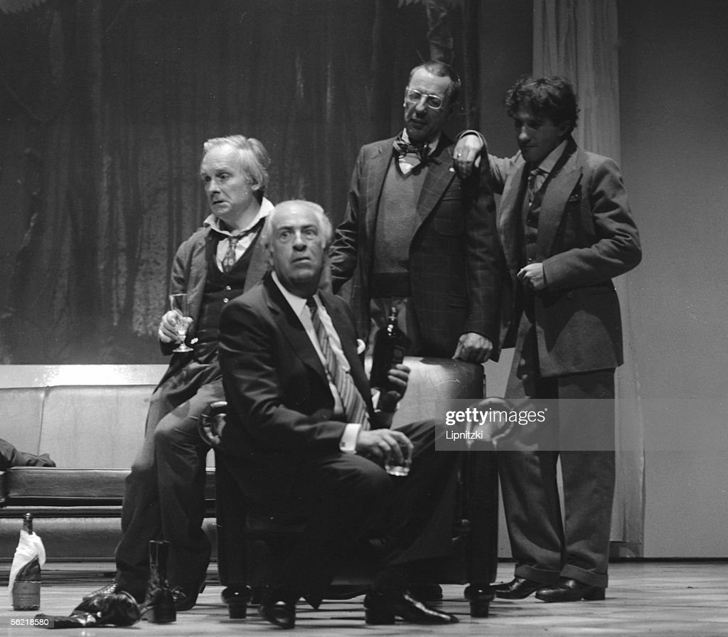 Michel Bouquet, Guy Trejean, Jean Bouise and Andre : News Photo
