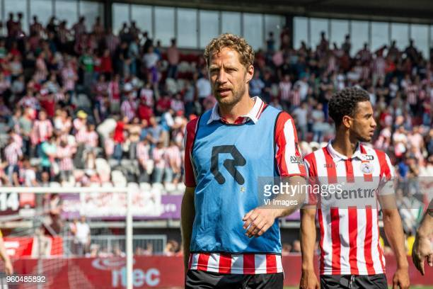 Michel Breuer of Sparta Rotterdam Ryan Sanusi of Sparta Rotterdam during the Dutch Jupiler League playoffs final match between Sparta Rotterdam and...