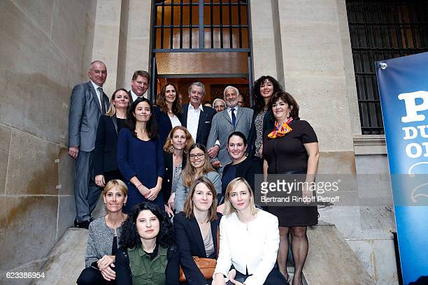 Michel Cadot Christian Sainte Alain Delon JeanPaul Belmondo and Womens Commissaire de police of PJ de Paris attend the 70 th Anniversary of 'Prix du...