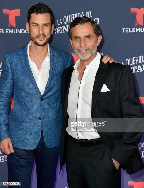 Michel Chauvet and Humberto Zurita attend the Telemundo screening of La Querida Del Centauro on May 2 2017 in Coral Gables Florida