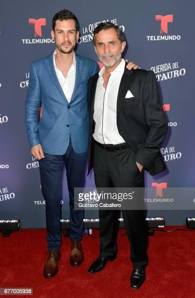 Michel Chauvet and Humberto Zurita attends the Telemundo screening of La Querida Del Centauro on May 2 2017 in Coral Gables Florida