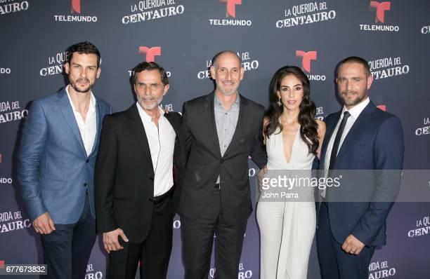 Michel Chauvet Humberto Zurita Telemundo President Luis Silberwasser Sandra Echeverria and Michel Brown attend the Telemundo Screening Of La Querida...