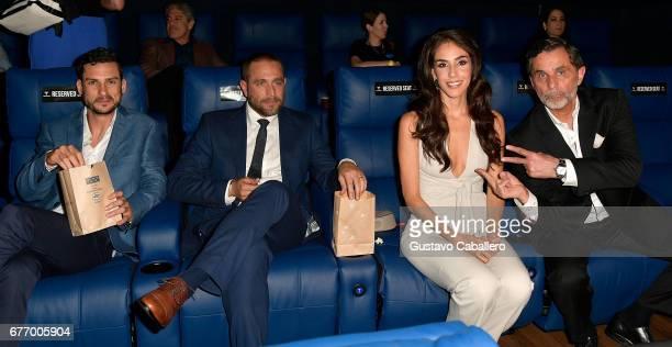 Michel Chauvet Michel Brown Sandra Echeverria and Humberto Zurita attends the Telemundo screening of La Querida Del Centauro on May 2 2017 in Coral...
