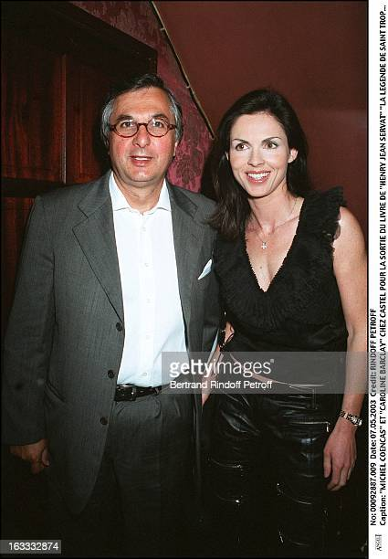 "Michel Coencas and ""Caroline Barclay"" at Castel for the launch of ""Henry Jean Servat"" book ""La Legende de Saint Tropez""."