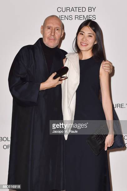 Michel Comte and Ayako Comte attends Michel Comte Black Light White Light Opening at Triennale di Milano on November 27 2017 in Milan Italy