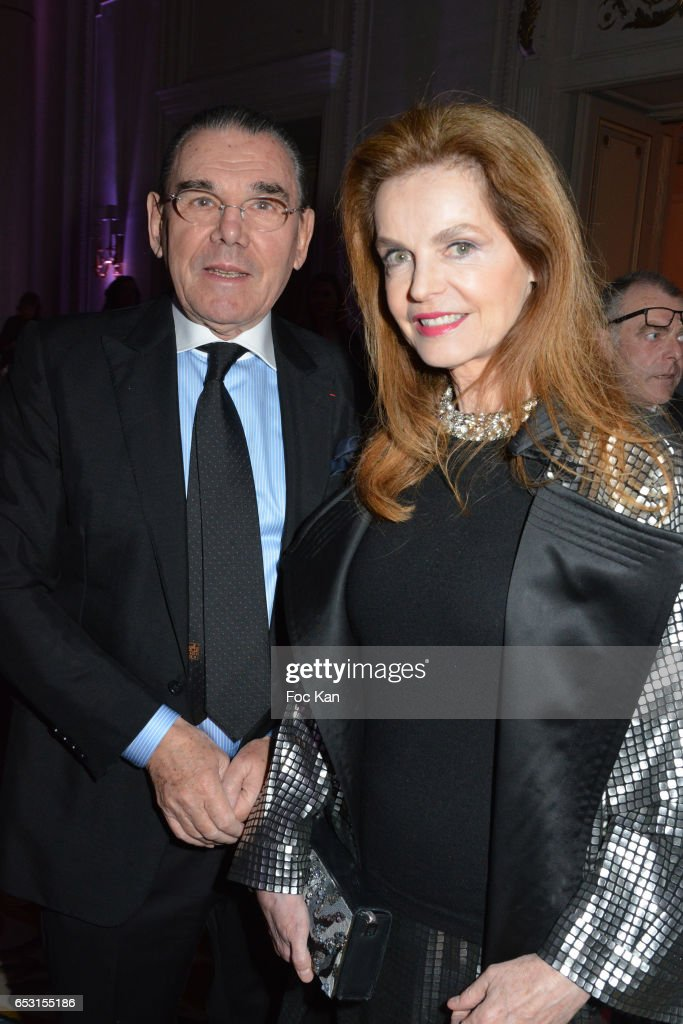 Michel Corbiere and Cyrielle Clair (Cyrielle Claire) attend 'La Recherche en Physiologie' Charity Gala (Les Stethos D'Or La Soiree Des Stars) at Four Seasons Hotel George V on March 13, 2017 in Paris, France.