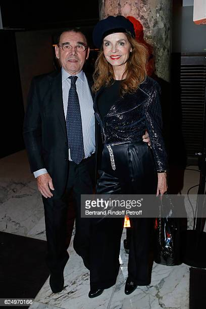 Michel Corbiere and Cyrielle Clair attend the Diner des amis de Care for the 70th anniversary of the Association Held at Espace Cambon on November 21...
