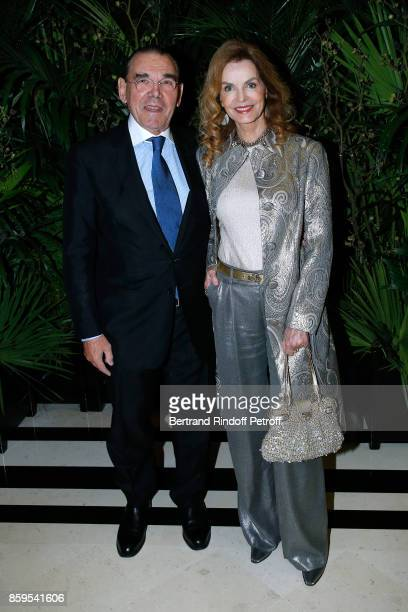 Michel Corbiere and Cyrielle Clair attend the Diner des Amis de Care at Hotel Peninsula Paris on October 9 2017 in Paris France