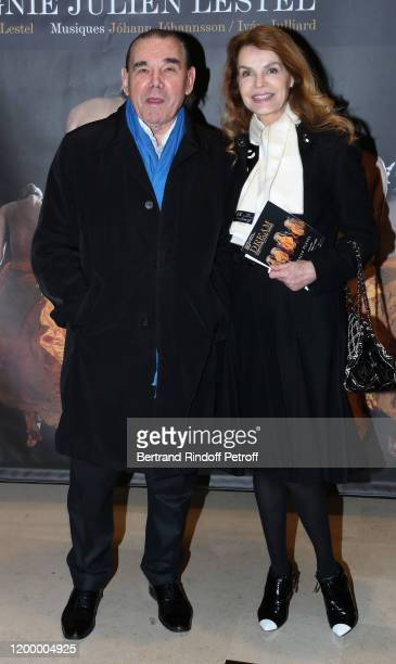 Michel Corbiere and Cyrielle Clair attend the Exceptional performance of Dream Compagnie Julien Lestel at Salle Pleyel on January 16 2020 in Paris...