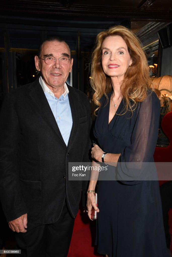 Michel Corbiere and Cyrielle Claire (Cyrielle Clair) attend The Art De La Matiere AD Interieurs 2017 After Cocktail Dinner at La Perouse on September 5, 2017 in Paris, France.