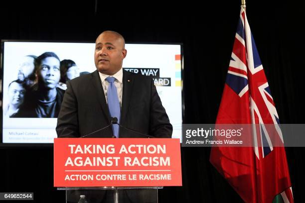 Michel Coteau, Ontario's Minister Responsible for anti-Racism, announces the province's new anti-racism strategy at 1 Leaside Park Drive in Toronto,...