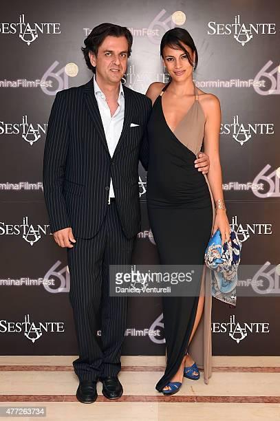 Michel Curatolo and Shalana Santana attend Day 3 of 61th Taormina Film Fest on June 15, 2015 in Taormina, Italy.