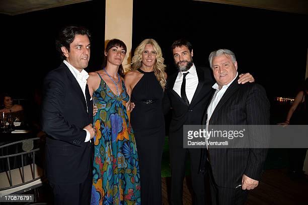 Michel Curatolo Tiziana Rocca Gerardo Sacco Daniele Pecci and Silvia Pietta attend 'Clifton Collection' Gala Dinner Hosted by Baume Mercier And...