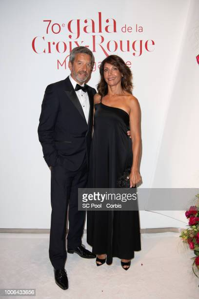 Michel Cymes and his wife Nathalie attend the 70th Monaco Red Cross Ball Gala on July 27 2018 in MonteCarlo Monaco