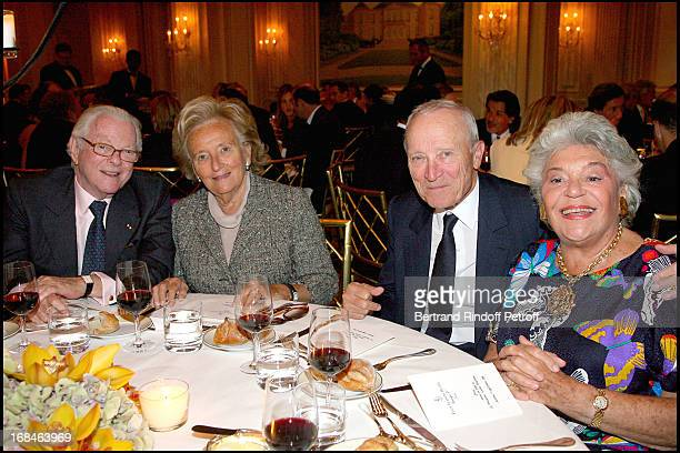 Michel David Weill Bernadette Chirac Jerome Seydoux and Baroness Philippine of Rothschild at Premiere Of Film 'Faubourg 36' At Ugc Normandie In...