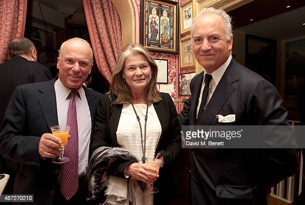 Michel de Carvalho, Charlene de Carvalho-Heineken and Charles Finch attend the Charles Finch and Jean Pigozzi dinner with Mulberry Chairman, Godfrey...