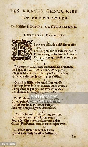 understanding the prophecies of michel de nostradame Michel de nostradame was born on december 14  he published his first almanac of prophecies here rest the bones of the illustrious michel nostradamus.